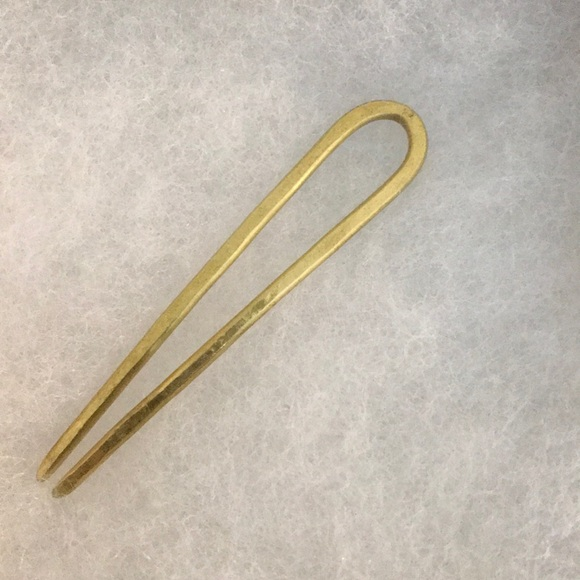 New in box CA makes brass hair pin 2""